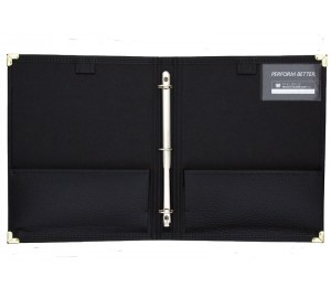No-Straps Band / Director RingBinder with Two Expanding Pockets